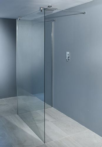 Freestanding L Shaped Wetroom Screens - Various Colours